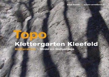 Topo Klettergarten - Gasthof Kleefeld