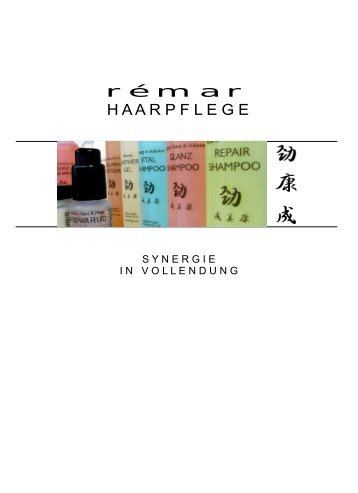 remar-Haarpflege Produkt Katalog - remar special Hair Care