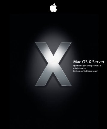 Verwalten des QuickTime Streaming Server - Apple