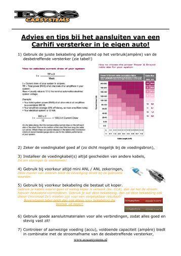 Advies en tips bij het aansluiten van een Carhifi ... - ECS Carsystems