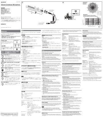 Electret Condenser Microphone - Sony