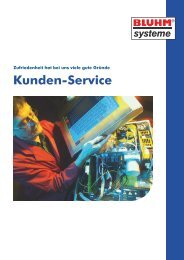 Kunden-Service - Bluhm Systeme GmbH