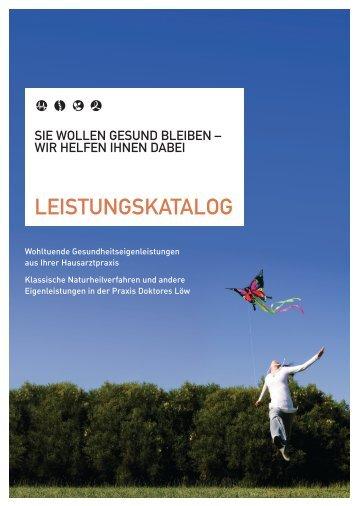 LEISTUNGSKATALOG - Doktores Löw Treuchtlingen, Hausärztliche ...