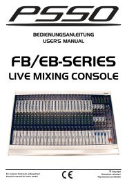 USER MANUAL FB/EB-SERIES Live Mixing Console