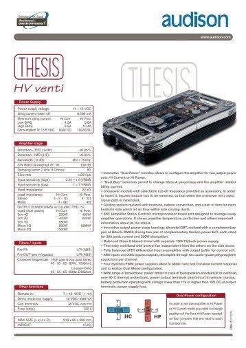 audison thesis hv venti ebay