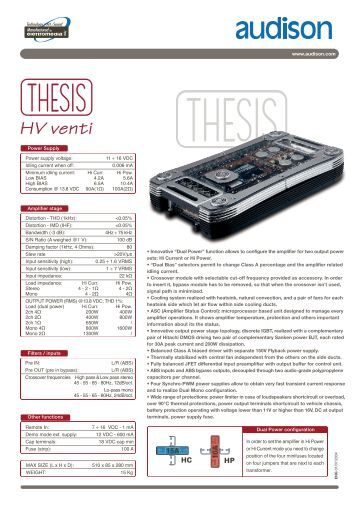 audison thesis venti Thesis thesis view as sort by display per page item: hv venti audison hv display per page item: hv venti audison hv venti our price: $16,50000 item: th quattro audison th quattro our price: $4,40000 shopping home dealer locator order info shipping info return.