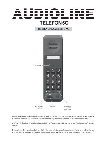 TELEFON 5G - Audioline