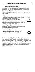 TEL5-K Telefon Bedienungsanleitung - Audioline - Seite 2