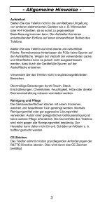 TEL5-K Telefon Bedienungsanleitung - Audioline - Seite 3