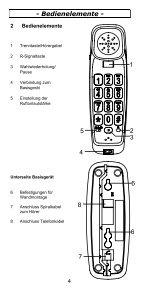 TEL5-K Telefon Bedienungsanleitung - Audioline - Seite 4
