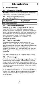 TEL5-K Telefon Bedienungsanleitung - Audioline - Seite 5