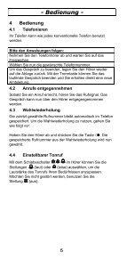TEL5-K Telefon Bedienungsanleitung - Audioline - Seite 6