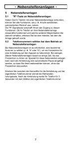 TEL5-K Telefon Bedienungsanleitung - Audioline - Seite 7