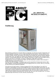 AAPC-Anleitung: Wie baue ich einen PC? - www.all-about-pc.de
