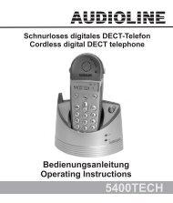 5400TECH Bedienungsanleitung Operating Instructions