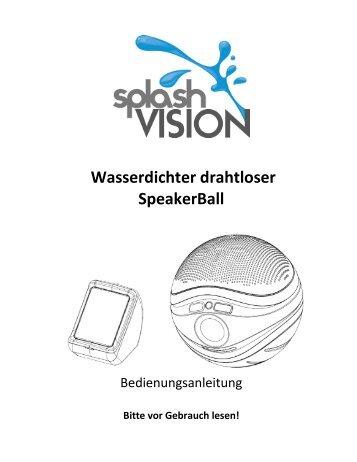 Wasserdichter drahtloser SpeakerBall - Badezimmer TV