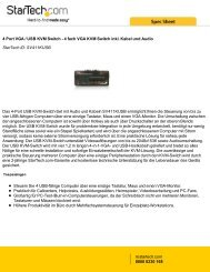 4 Port VGA / USB KVM Switch - StarTech.com