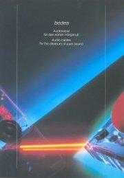 Audiokabel - Lutz Wolf Industrievertretungen