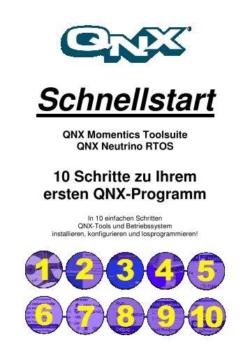 10 Schritte zu Ihrem ersten QNX-Programm