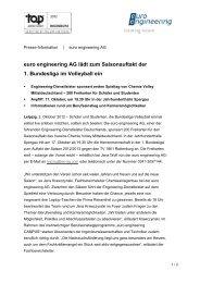 euro engineering AG lädt zum Saisonauftakt der 1 ... - DIS AG