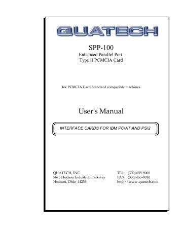 SPP-100 User's Manual