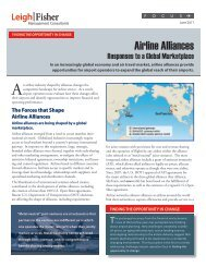 Airline Alliances - Responses to a Global Marketplace - LeighFisher