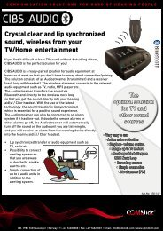 CIBS AUDIO The optimal solution for TV and other ... - COMMidt AS