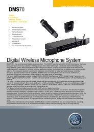 DMS70 Digital Wireless Microphone System - AKG