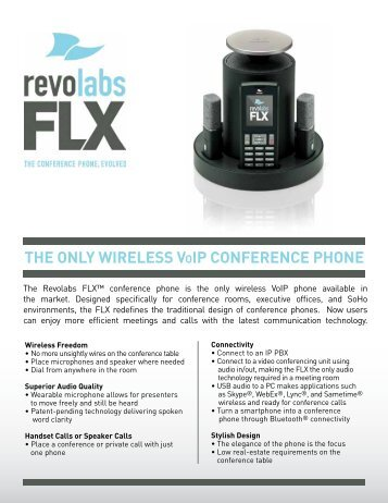 The Only Wireless VOiP COnferenCe PhOne - Revolabs