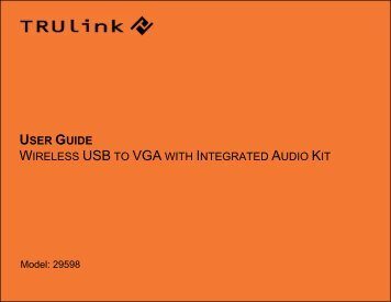 using the wireless usb to vga with integrated audio kit