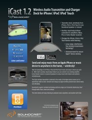 iCast 1.2 Send and enjoy music from an Apple iPhone ... - SoundCast