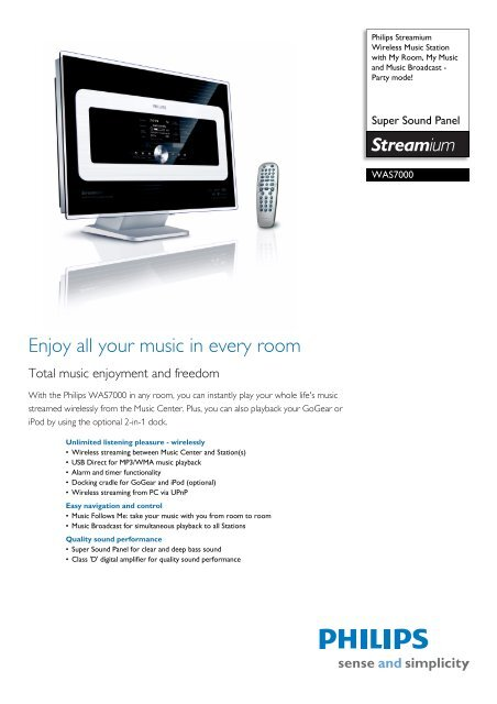 Philips WACS700/22 Wireless Music Center Driver Download