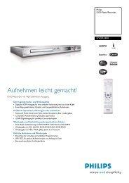 DVDR3400/31 Philips DVD-Player/Recorder