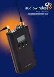 AWDR-1 Receiver - Audio Wireless
