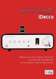 """Weltweit erste """"Pure Digital"""" iPod Dock und ESS ... - Peachtree Audio"""