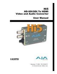 HD-SDI/SDI To HDMI Video and Audio Converter User Manual