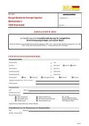 Antrag zur Förderung der PV-Anlage 2012