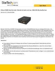 VGA auf HDMI Video Konverter / Wandler mit Audio ... - StarTech.com