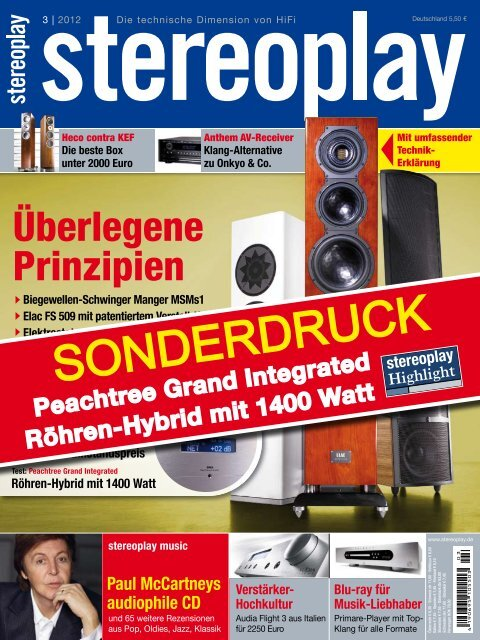 Test bei stereoplay 03/2012 - Peachtree Audio