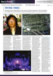 Funktion-One Japan & Try Audio Pro Audio Asia SEPT 2004