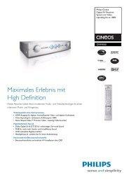 DFR9000/01 Philips Digital AV Receiver-System mit Video ...