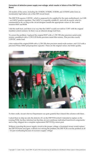 Main PSU Motherboard PCB
