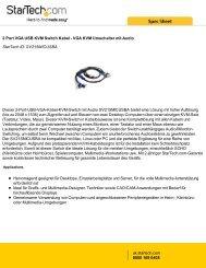 2 Port VGA USB KVM Switch Kabel - VGA KVM ... - StarTech.com
