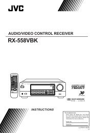 rx-558vbk audio/video control receiver instructions - JVC
