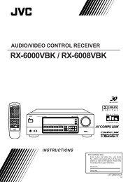 rx-6000vbk / rx-6008vbk instructions audio/video control receiver - JVC