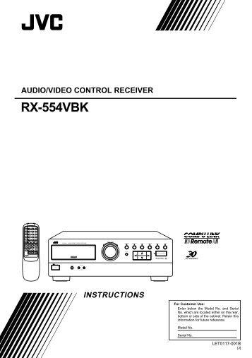rx 6000vbk rx 6008vbk instructions audio video control receiver jvc rh yumpu com JVC RX-6000V Years Manufactured JVC RX-6000V Years Manufactured