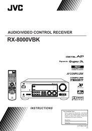 rx-8000vbk instructions audio/video control receiver - JVC