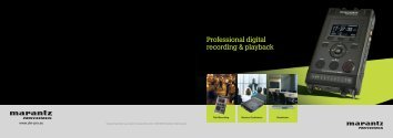 Professional digital recording & playback - D&M Professional Europe