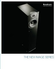 THE NEW IMAGE SERIES - Audio Pro