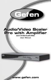 Audio/Video Scaler Pro with Amplifier - Gefen